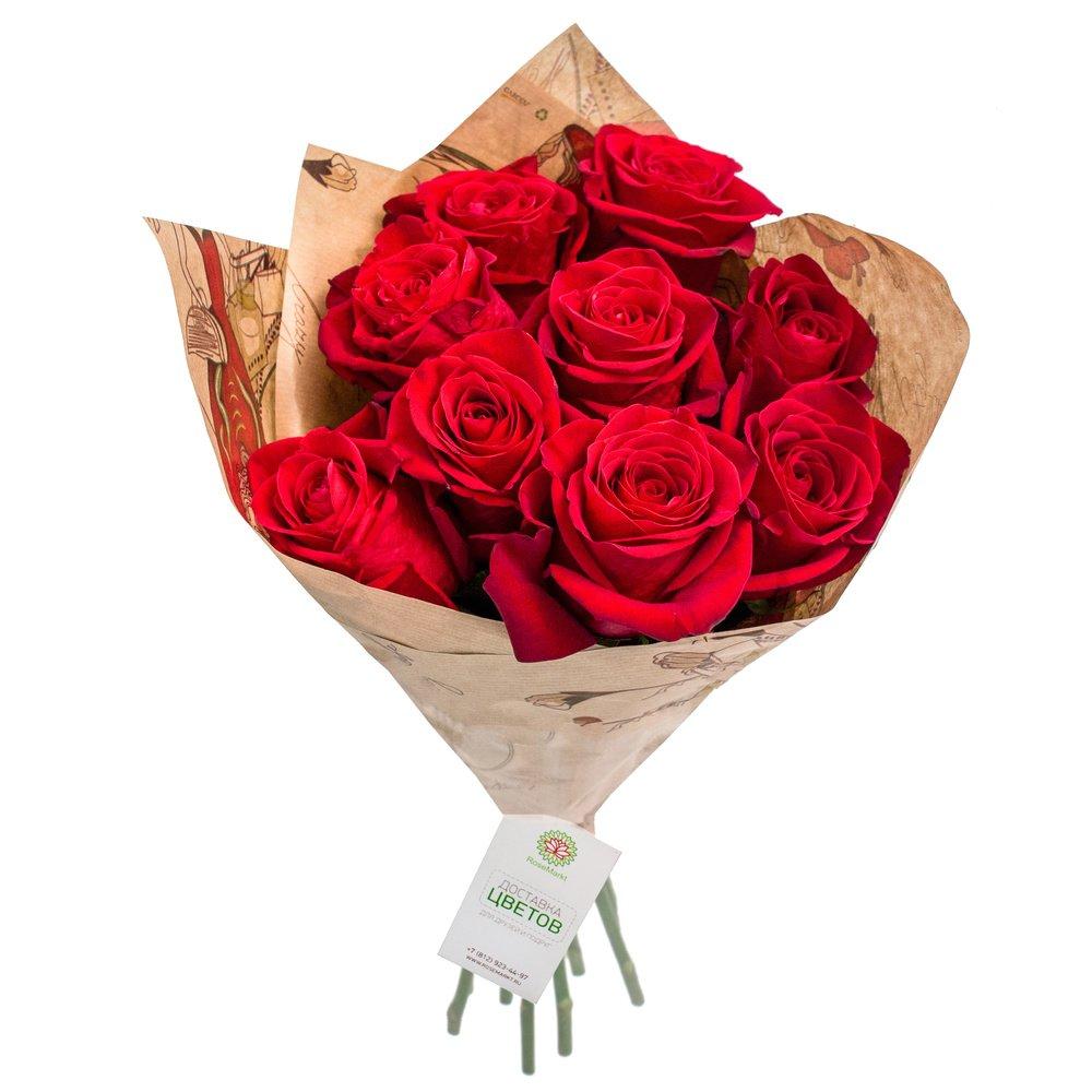 Купить 9 роз в москве
