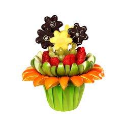 Ромашки из фруктов и цитрусов. Оригинальный букет с доставкой.