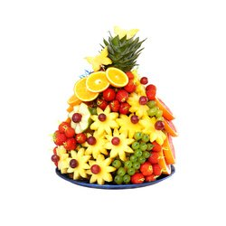 Очень большой фруктовый букет.