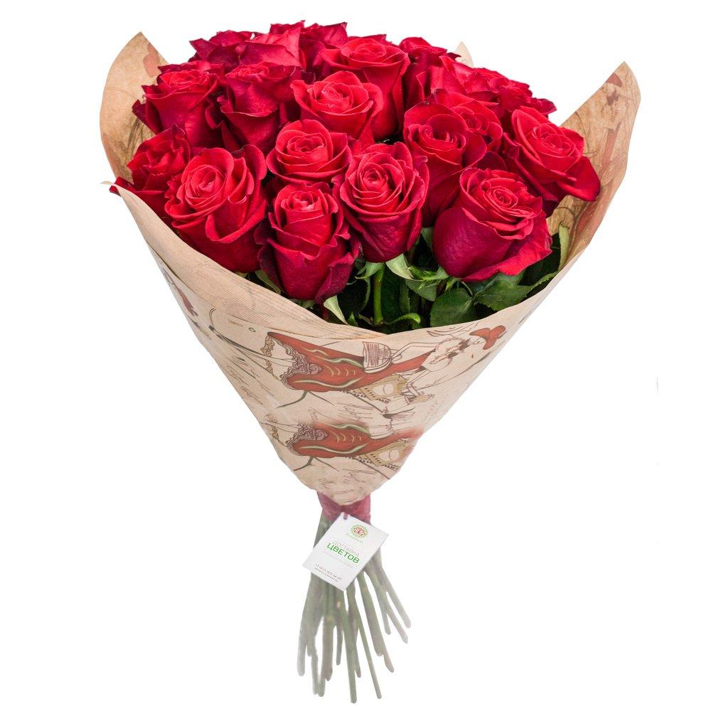 Алые розы (80 см)