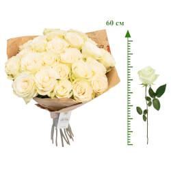 Букет белые розы 60 см в Санкт-Петербурге