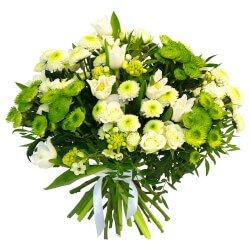 Белые и зелёные цветы - ещё одно воспоминание о лете