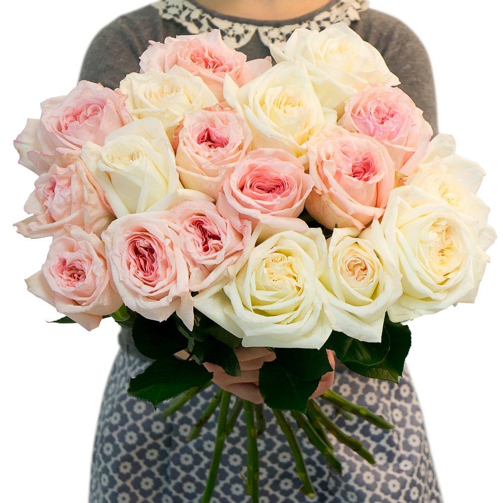 Букет из кенийских пионовидных роз в Санкт-Петербурге