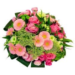 Букет розы, герберы, хризантемы, астильба, альстромерия, фрезия, аммимаус в Санкт-Петербурге