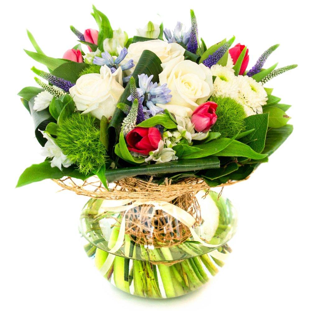 Как оформить цветы в букет
