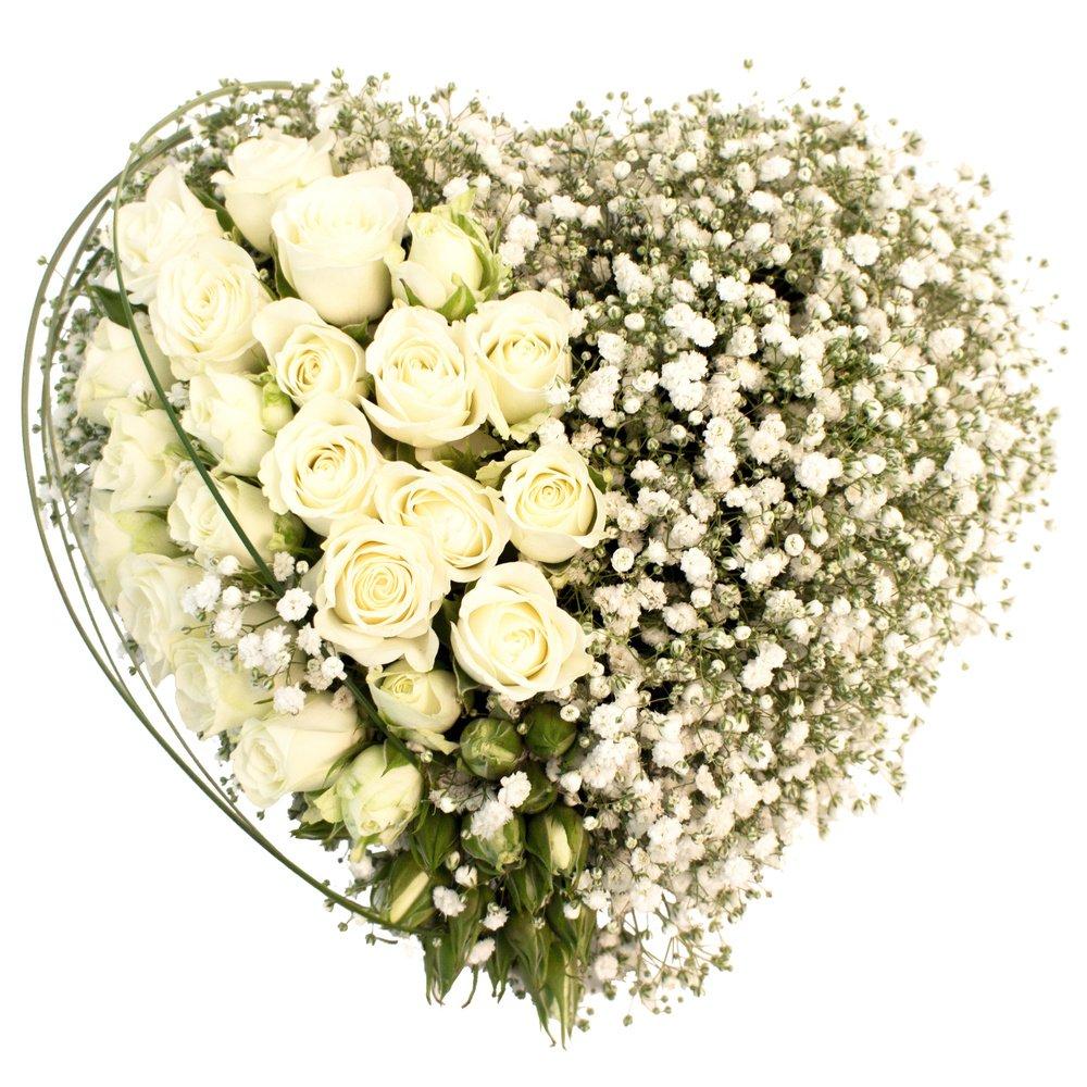 Сердце из цветов №1