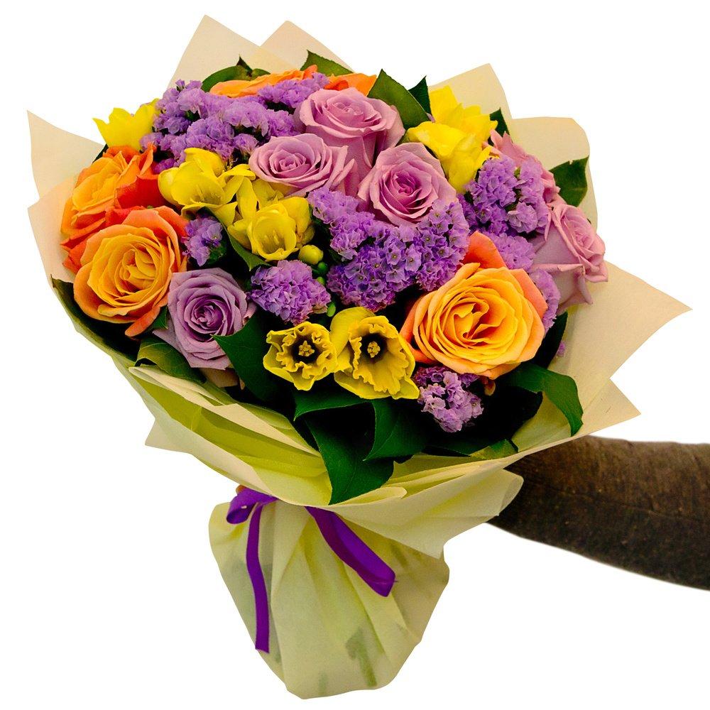 Фиолетово-жёлтый букет