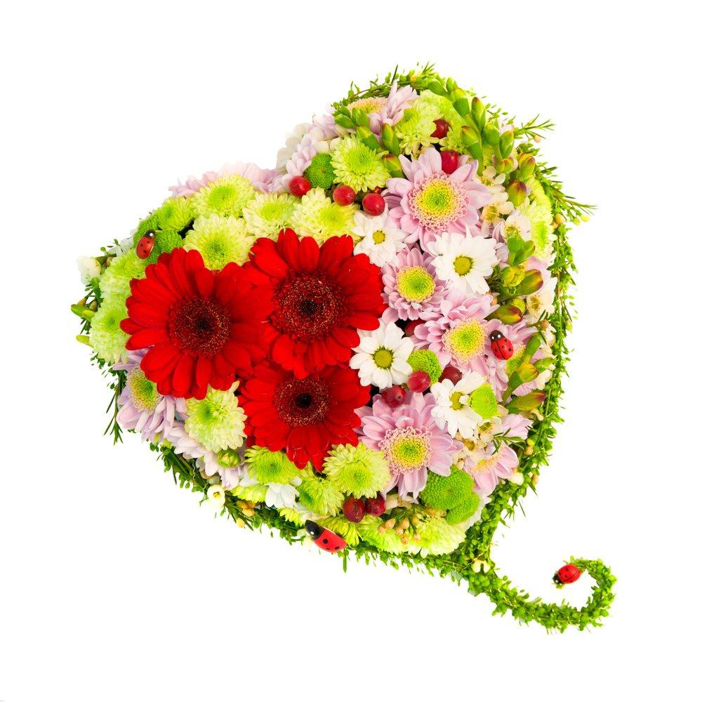 Сердце из цветов №2