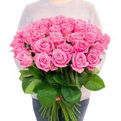 Букет 45 розовых роз в Санкт-Петербурге
