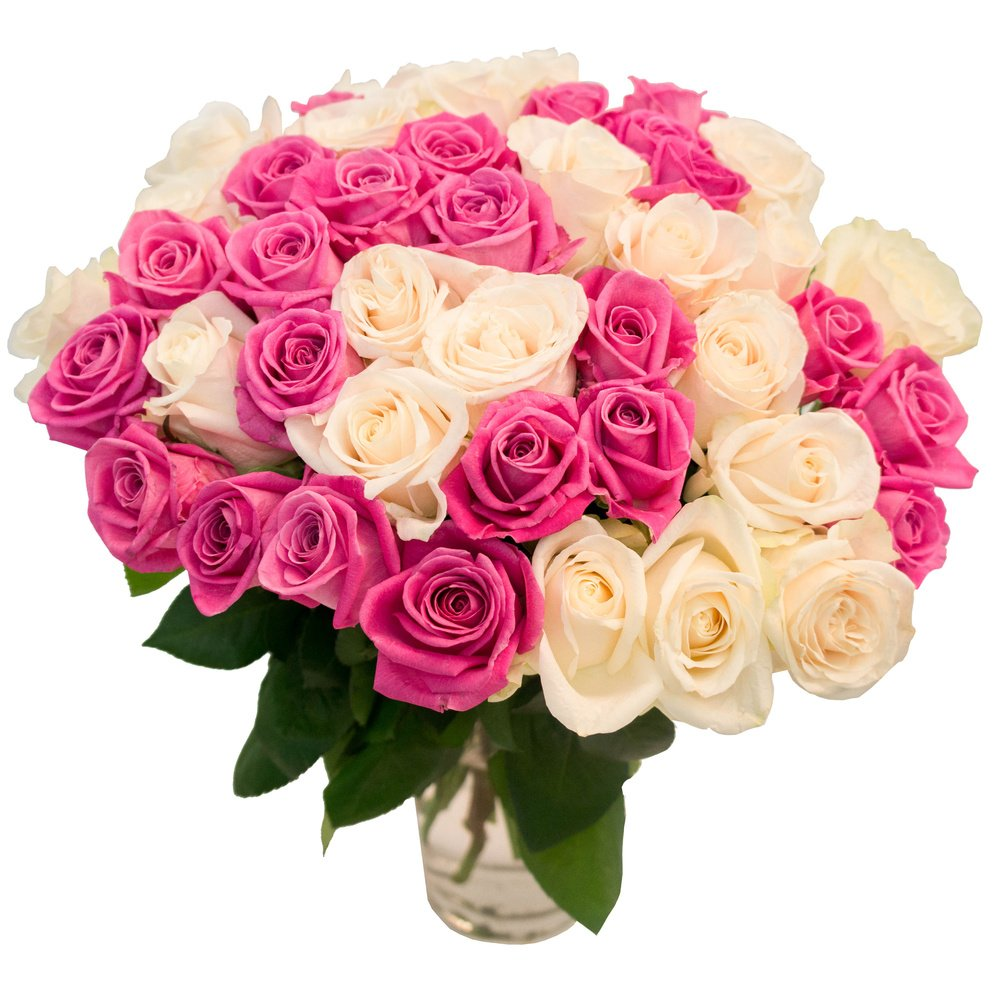 Безумно красивый букет из роз, цветов тейково