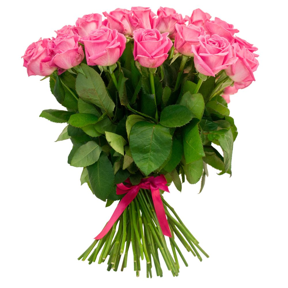 55 розовых роз