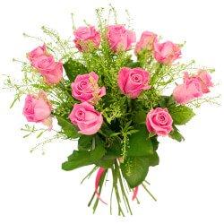 Прекрасное сочетание гринбелла и розы кустовой