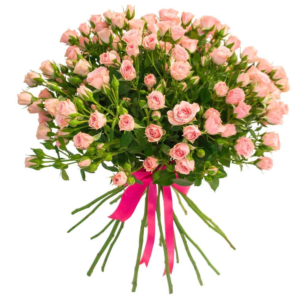 Доставке цветов, кустовые розы в букете описание