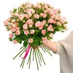 Букет роза кустовая розовая в Санкт-Петербурге