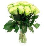 Букет из роз с неожиданным зеленым оттенком