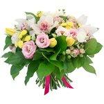 Очаровательный букет с орхидеями в Санкт-Петербурге