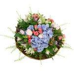 Великолепный букет с гортензией, розами и тюльпанами для самой прекрасной девушки на свете в Санкт-Петербурге