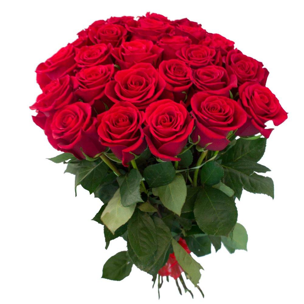 Букет Алые розы (70 см) в Санкт-Петербурге: купить недорого с доставкой,  цена 225 ?