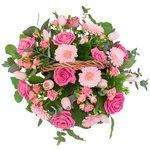Корзина из розовых цветов в Санкт-Петербурге