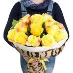 Букет из желтых роз в оргинальной упаковке