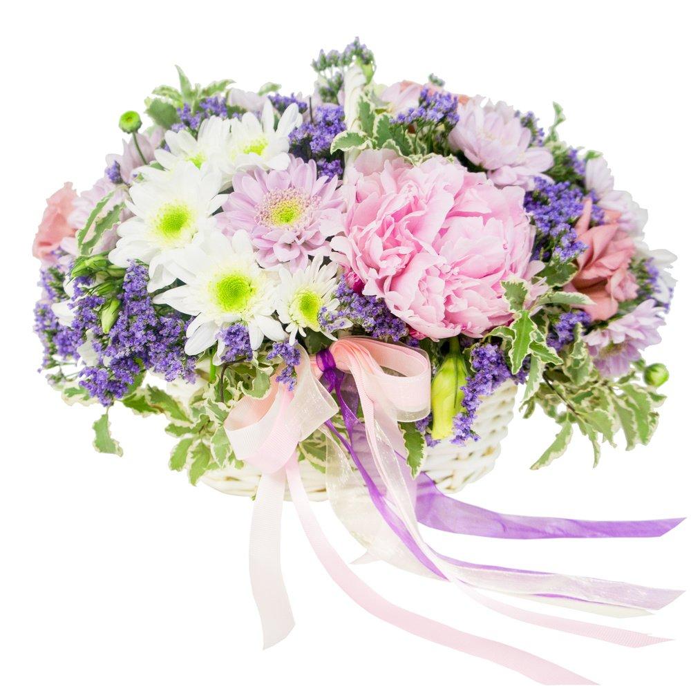 Свит бокс с цветами и конфетами