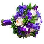 Букет невесты с пионовидной розой орхидеей и фрезией в Санкт-Петербурге