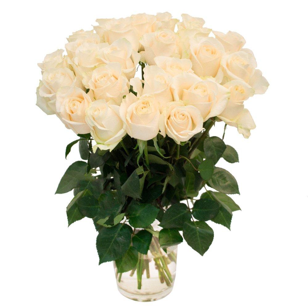 Букет из 25 белых роз в Санкт-Петербурге