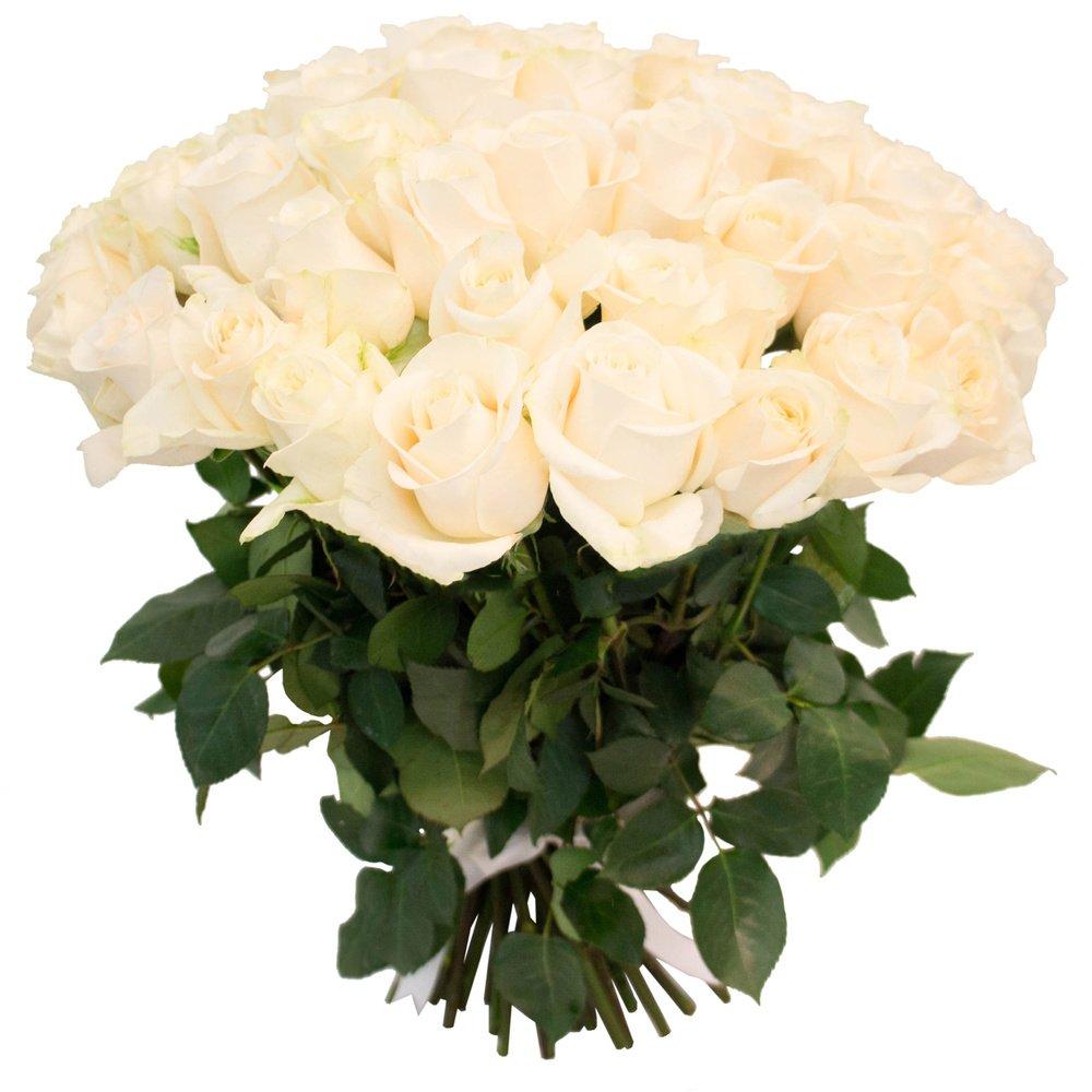 Букет из 55 белых роз в Санкт-Петербурге