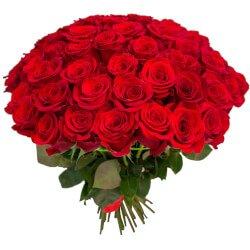 Букет 65 красных роз в Санкт-Петербурге