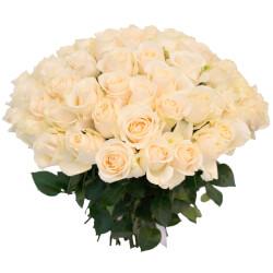 Букет из 65 белых роз в Санкт-Петербурге