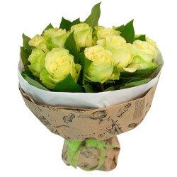 Букет из зелёных роз в Санкт-Петербурге
