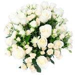 Букет белые розы, кустовые розы белые в Санкт-Петербурге