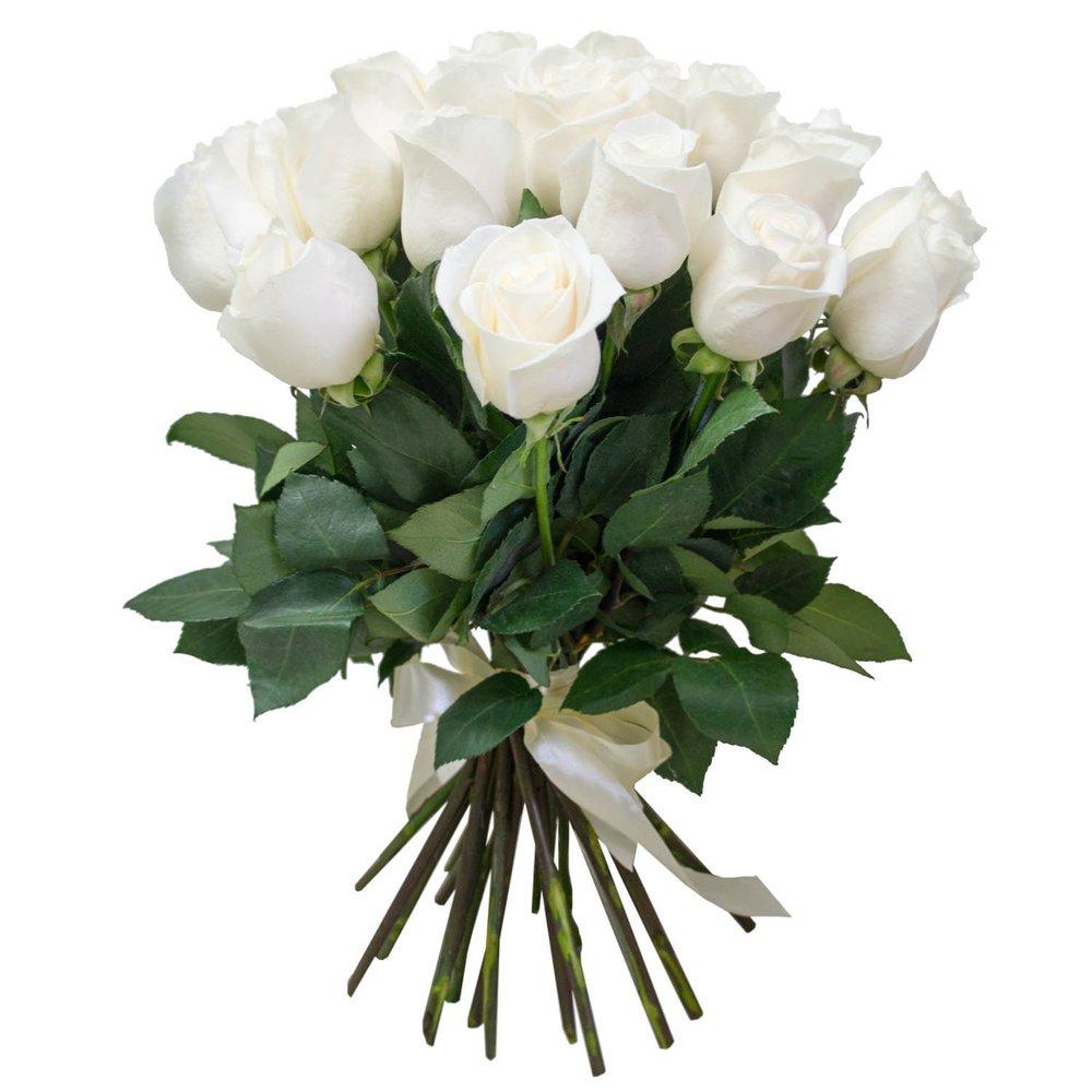 Белые розы (50 см)