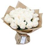 Букет из белых роз 50 см в Санкт-Петербурге