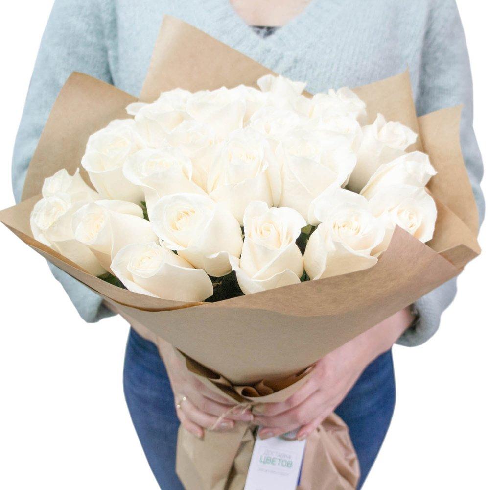 Купить Белые Розы (50 См)