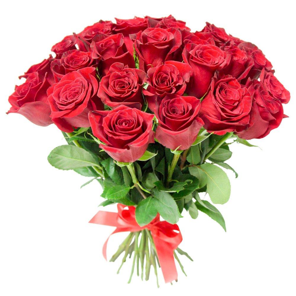 Букет алые розы в Санкт-Петербурге