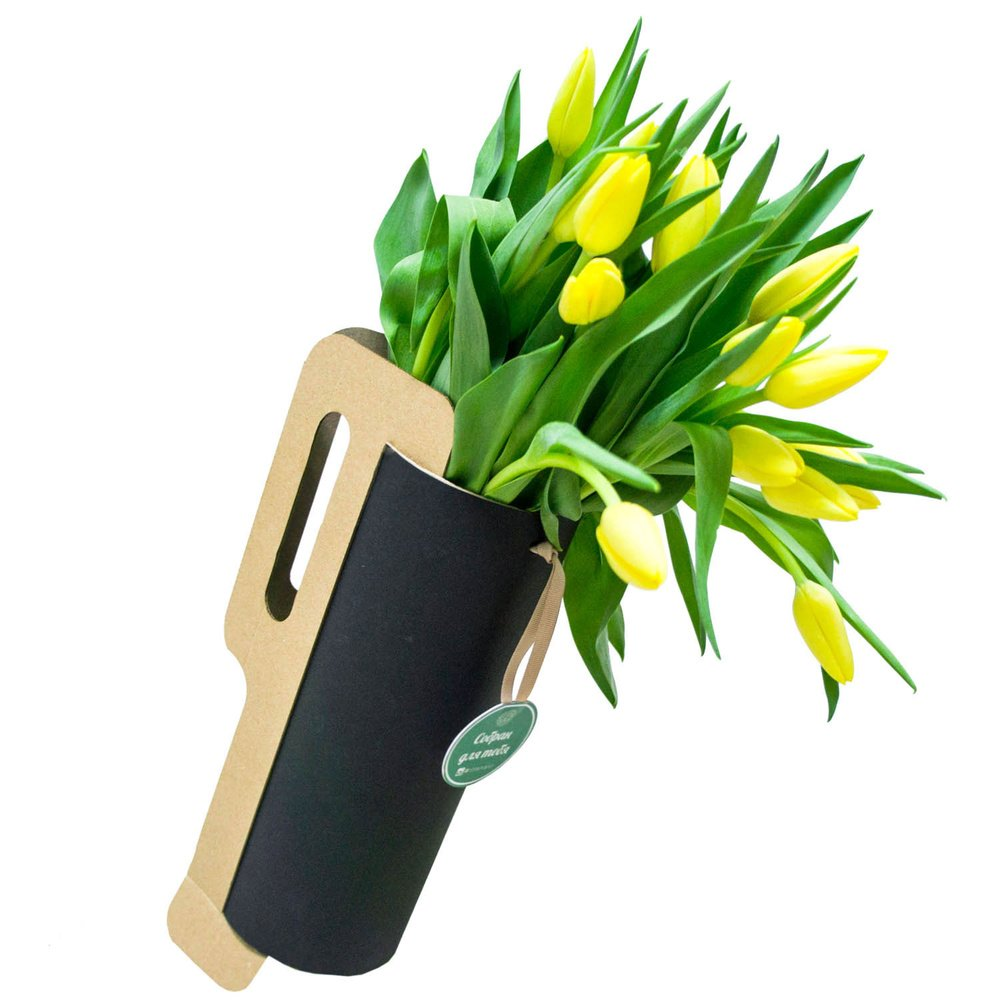 Букет из жёлтых тюльпанов в Санкт-Петербурге