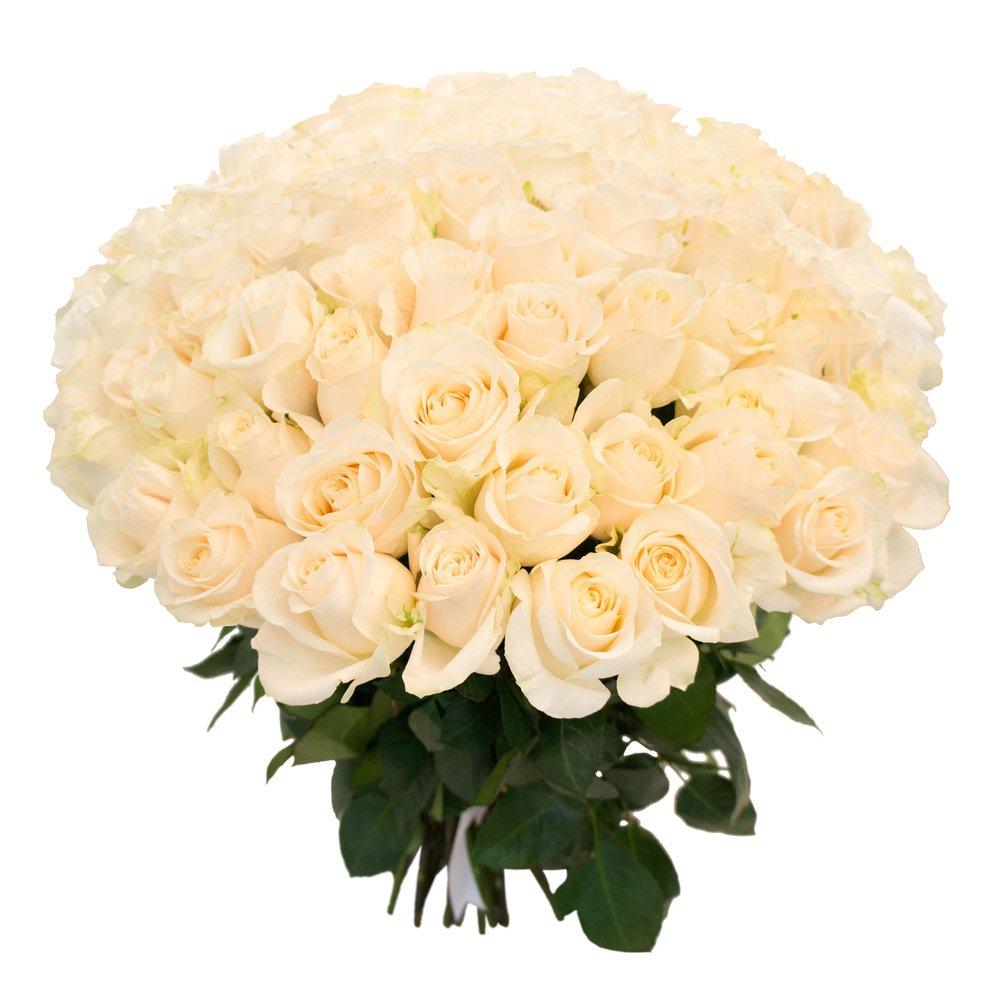 Букет из 101 белой розы в Санкт-Петербурге