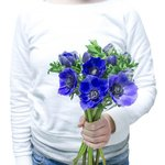 Букет из синих анемонов в Санкт-Петербурге