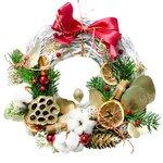 Красивый венок украсит рождественский праздник
