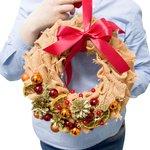 Рождественский венок ручной работы с доставкой в Санкт-Петербурге