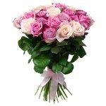 Букет из розовых роз, фиолетовых роз в Санкт-Петербурге