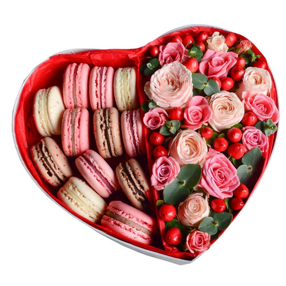 Подарок с макаронами и цветами 97