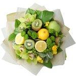 Букет из киви, лимона и яблок зелёных в Санкт-Петербурге
