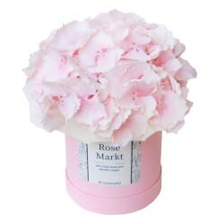 Нежно-розовая гортензия в шляпной коробке в Санкт-Петербурге