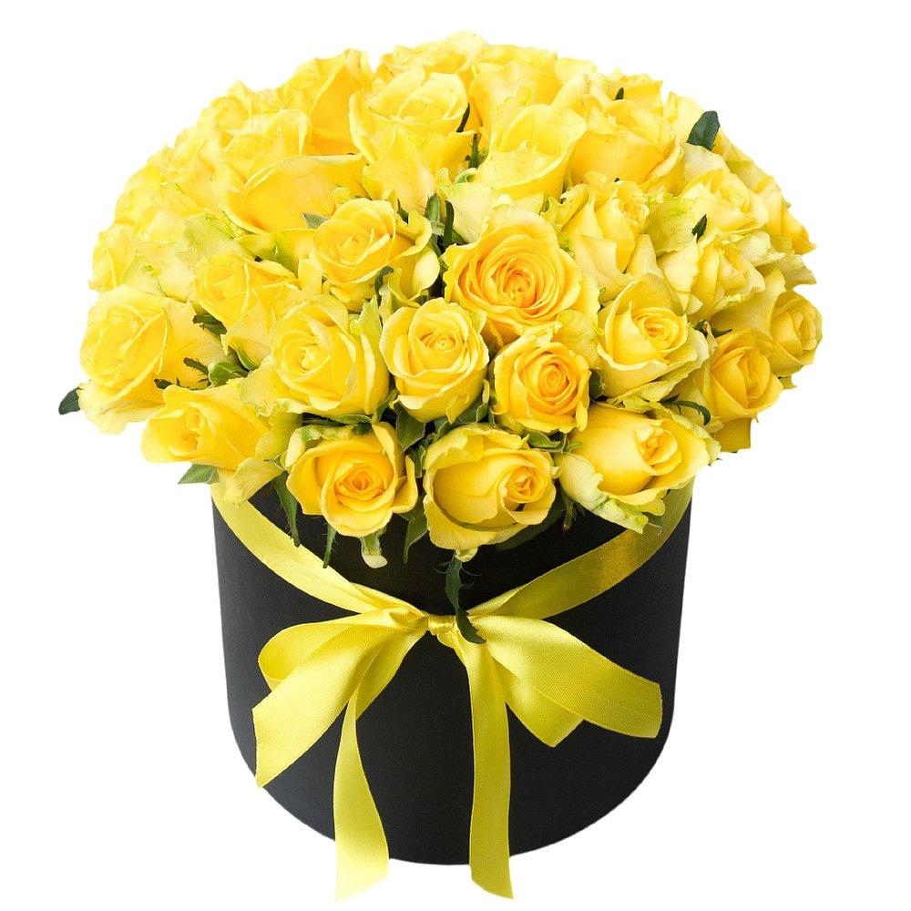 Поздравительная открытка с днем рождения цветы желтые розы женщине
