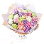 Букет из 25 белых, лунных, мятных, персиковых, розовых гвоздик Санкт-Петербурге