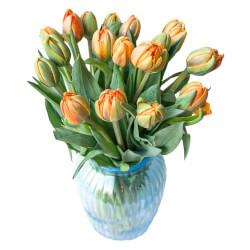 Букет из тюльпанов оранжевых пионовидных в Санкт-Петербурге