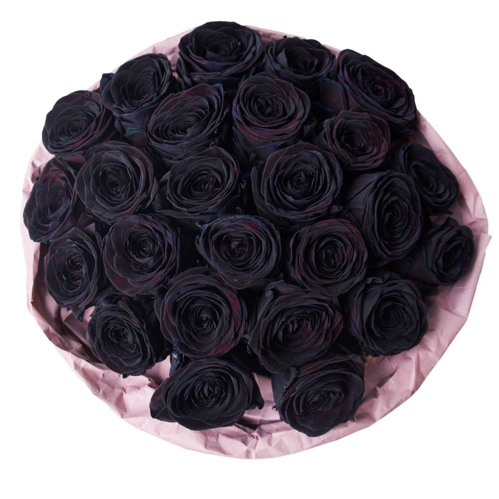 25 чёрных роз