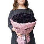 Букет из 25 чёрных роз в Санкт-Петербурге